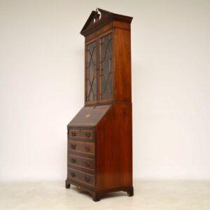 Antique Inlaid Mahogany Bureau Bookcase