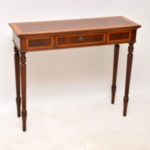 Antique Georgian Style Inlaid Mahogany Console Table