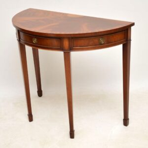 Antique Sheraton Style Inlaid Mahogany Console Table