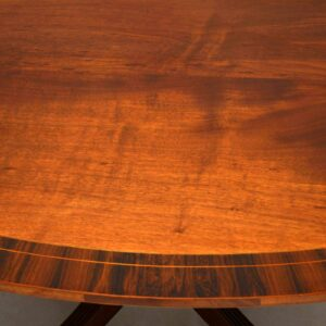 Antique Inlaid Mahogany & Rosewood Oval Dining Table