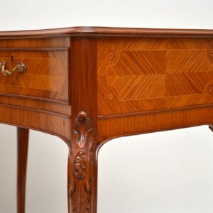 Antique French Inlaid Kingwood Console Table