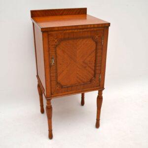 Antique Inlaid Satinwood Side or Bedside Cabinet
