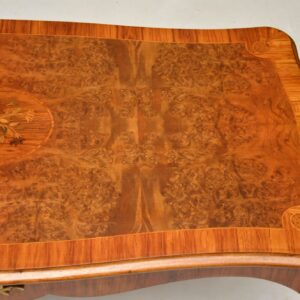 Antique French Inlaid Walnut Coffee Table