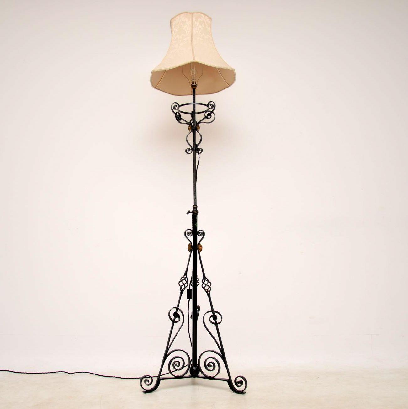 Antique Wrought Iron Telescopic Lamp
