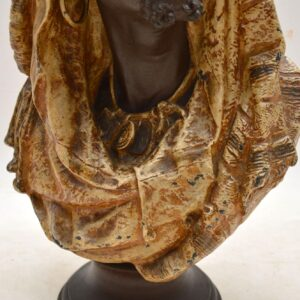 Antique Spelter Bust of a Moorish Man