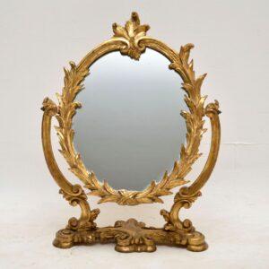 Antique Italian Gilt Wood Vanity Mirror