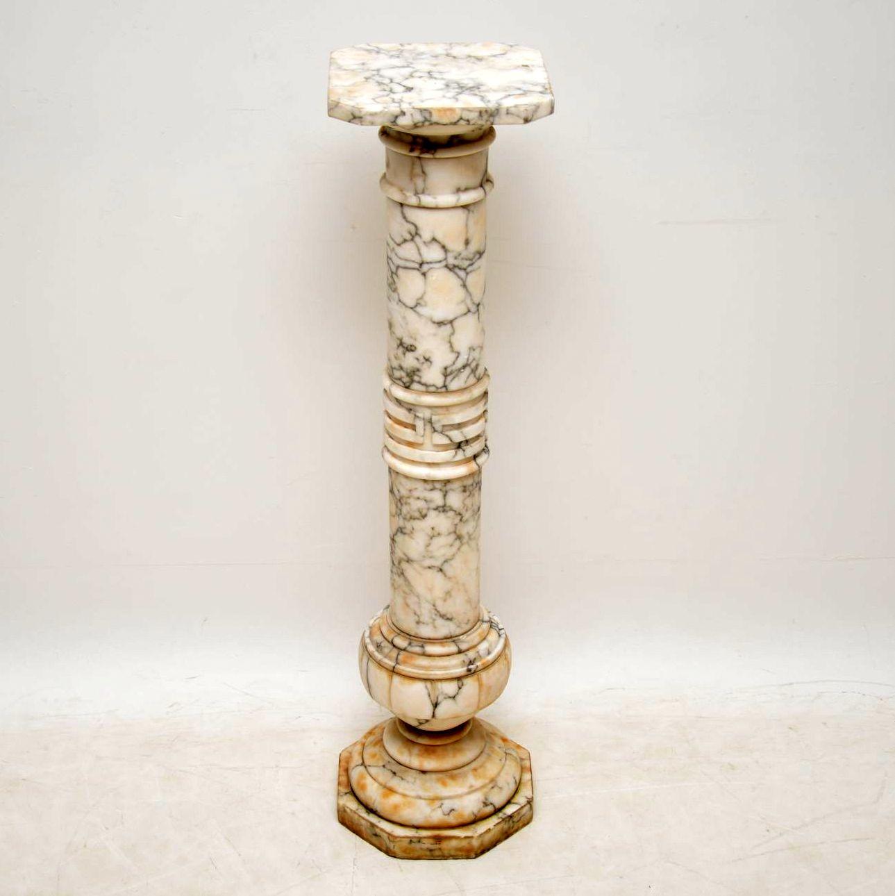 Antique Italian Alabaster Column