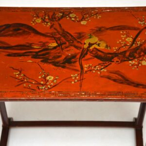 Antique Japanned Nest of Three Tables