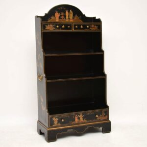 Antique Georgian Style Chinoiserie Open Bookcase