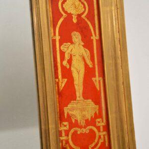 Large Antique Decorative Lacquered Gilt Wood Mirror