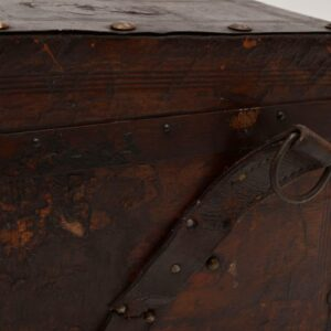 Antique Brazilian Leather Travelling Trunk