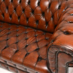 Antique Victorian Style Deep Buttoned Leather Chesterfield Sofa