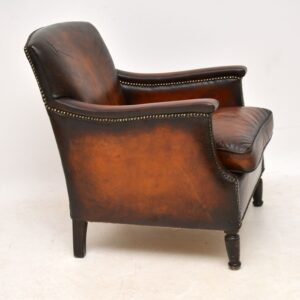 Small Antique Leather Armchair