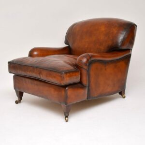 Antique Leather 'Howard' Style Armchair