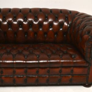 Antique Leather Chesterfield Sofa