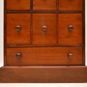 Large Antique Victorian Mahogany Apothecary Chest of Drawers