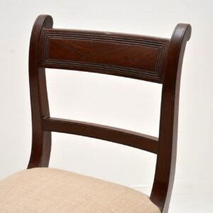Antique Regency Mahogany Double Stool / Window Seat