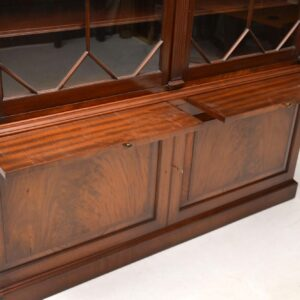 Antique Mahogany Astral Glazed Bookcase