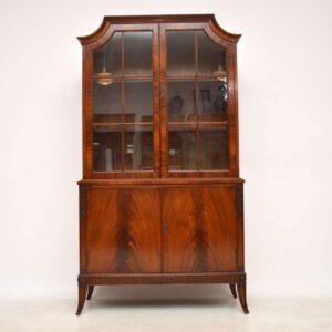 Antique Mahogany Glazed Bookcase