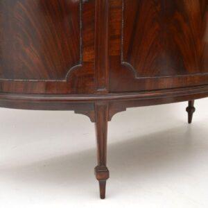 Antique Edwardian Mahogany Bow Front Cabinet