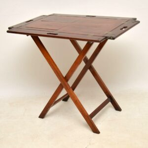 Antique Mahogany Tray Top Butlers Stand / Side Table