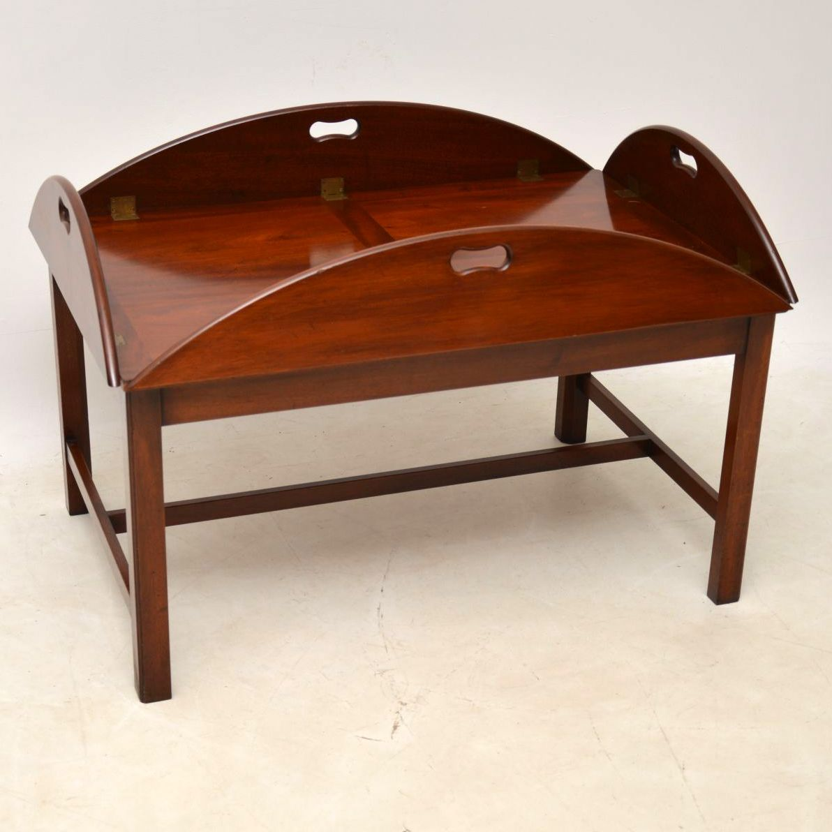 Antique Mahogany Butlers Tray Top Coffee Table