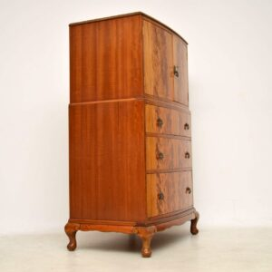 Antique Flame Mahogany Cabinet on Chest