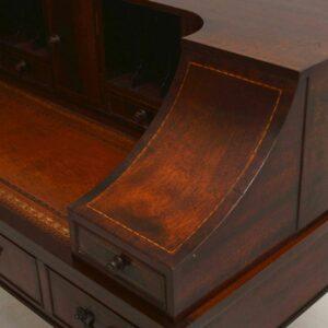 Antique Sheraton Style Mahogany Carlton House Desk