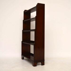 Antique Mahogany Cascading Open Bookcase