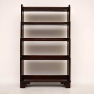 Antique Mahogany Cascading Open Bookcase