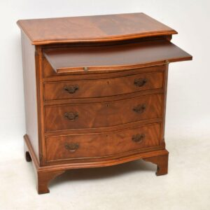 Antique Serpentine Fronted Mahogany Chest of Drawers