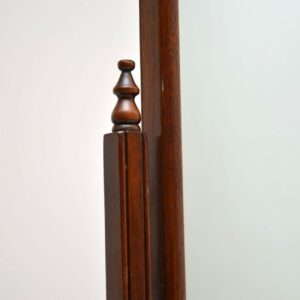 Antique Mahogany Cheval Mirror