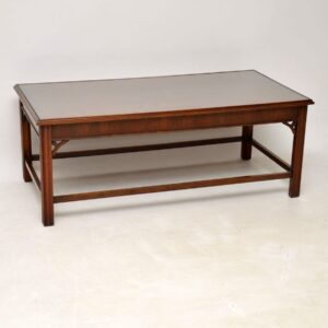 Large Antique Mahogany Coffee Table