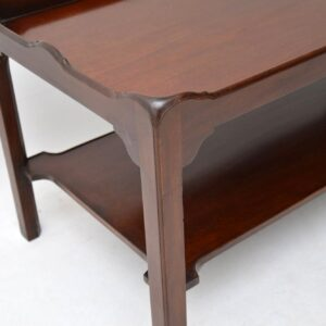 Antique Georgian Style Mahogany Coffee Table