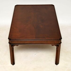 Antique Chippendale Style Mahogany Coffee Table