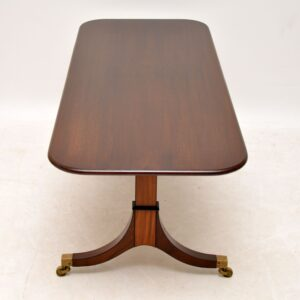 Large Antique Regency Style Mahogany Coffee Table