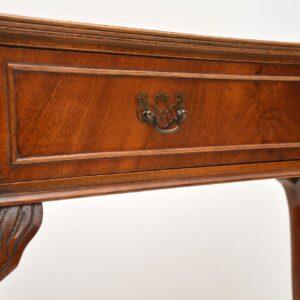Antique Mahogany Concave Console Table
