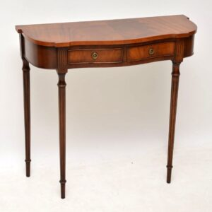 Small Antique Mahogany Console Side Table