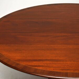 Antique Mahogany Oval Top Dining Table