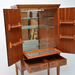 Antique Georgian Style Mahogany Cocktail Cabinet