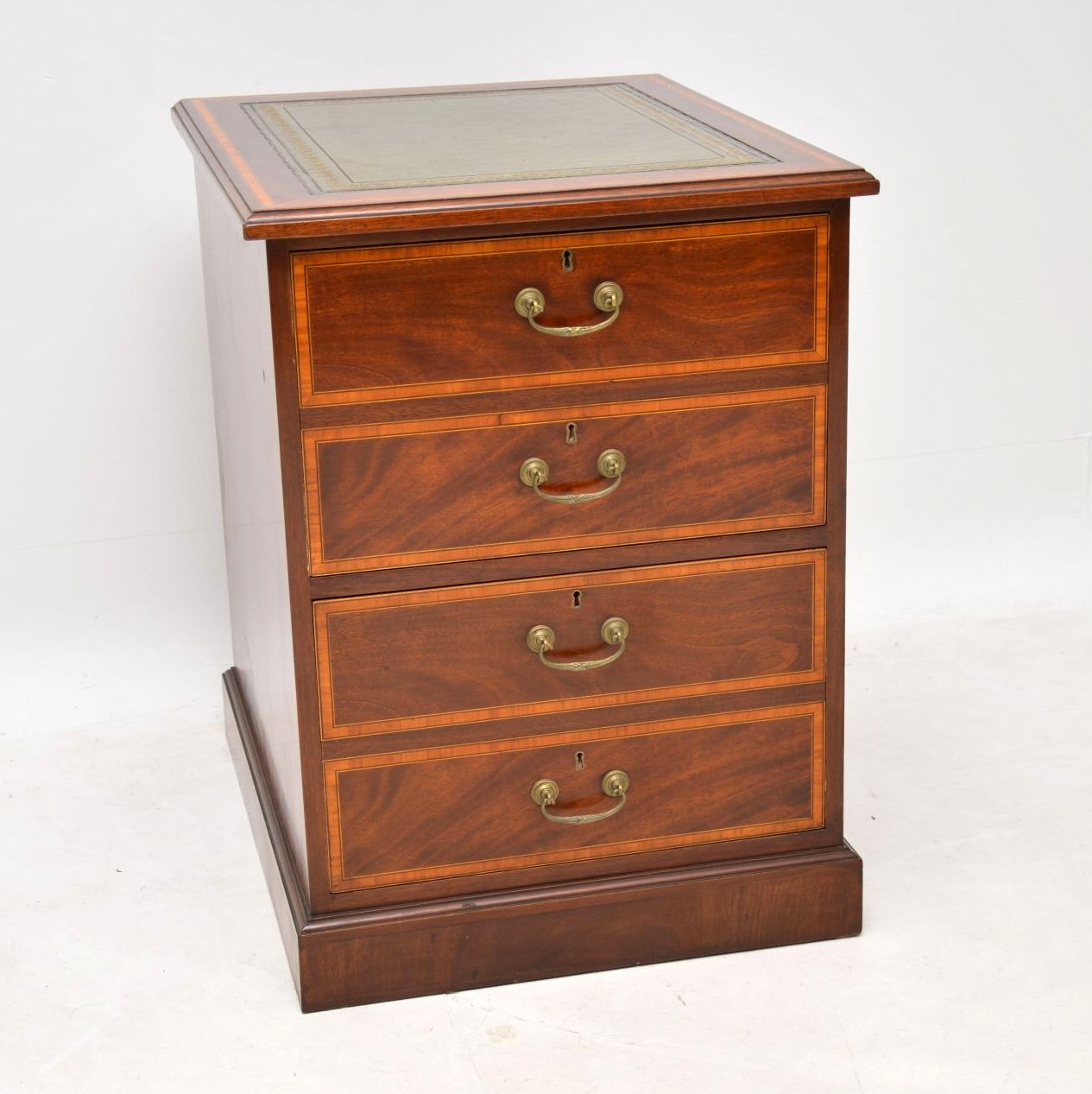 Antique Georgian Style Inlaid Mahogany Filing Chest of Drawers