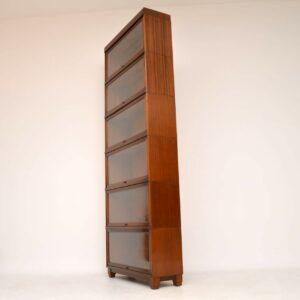 Antique Mahogany Globe Wernicke Stacking Bookcase
