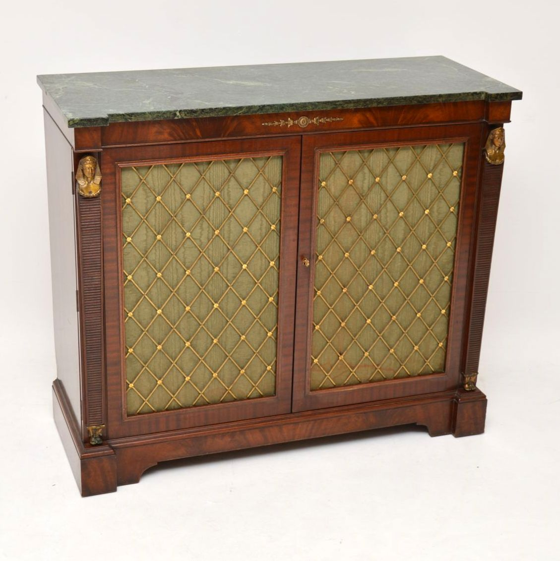 Antique Regency Style Mahogany Marble Top Chiffonier Sideboard