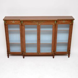 Antique Satinwood Bookcase by Howard & Sons