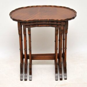Antique Mahogany Kidney Shaped Nest of Tables