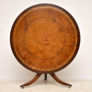 Antique Mahogany & Leather Tilt Top Dining Table