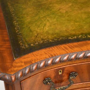 Antique Mahogany Leather Top Desk