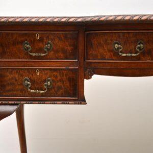 Antique Mahogany Leather Top Desk