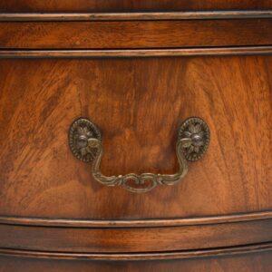Antique Flame Mahogany Leather Top Pedestal Desk