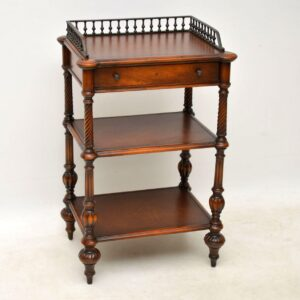 Antique Victorian Style Mahogany & Leather Buffet